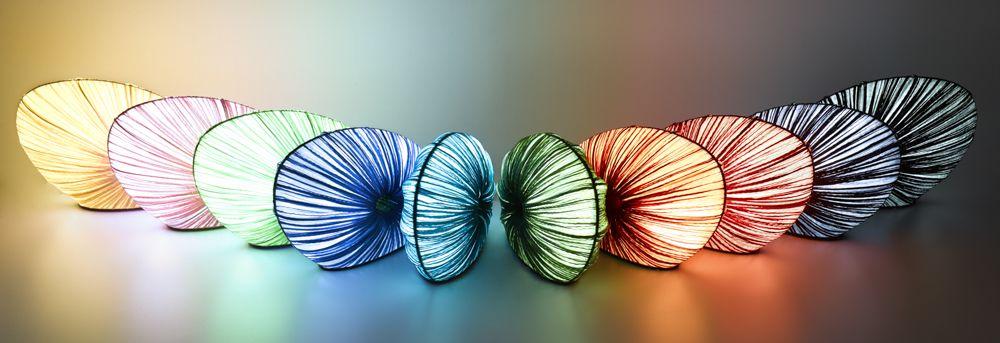 Doe in various silk colors
