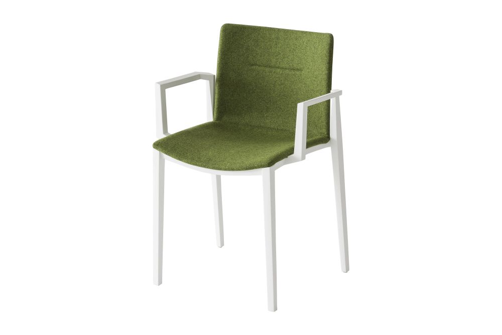 King Fabric 4021, White-painted Metal,Gaber,Breakout & Cafe Chairs,chair,furniture