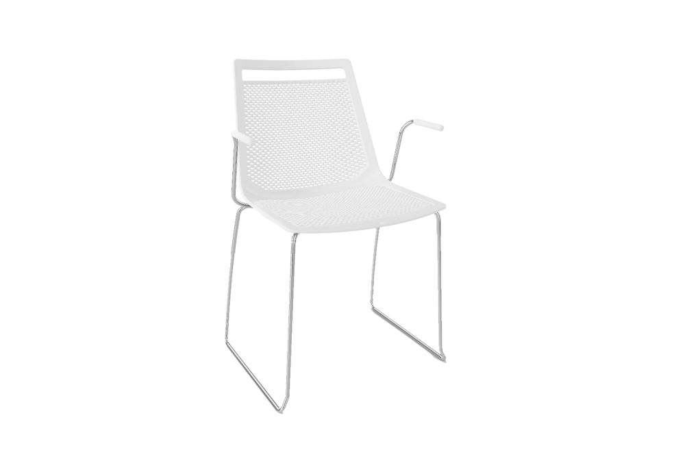 00 White, Chromed Metal,Gaber,Breakout & Cafe Chairs,chair,furniture
