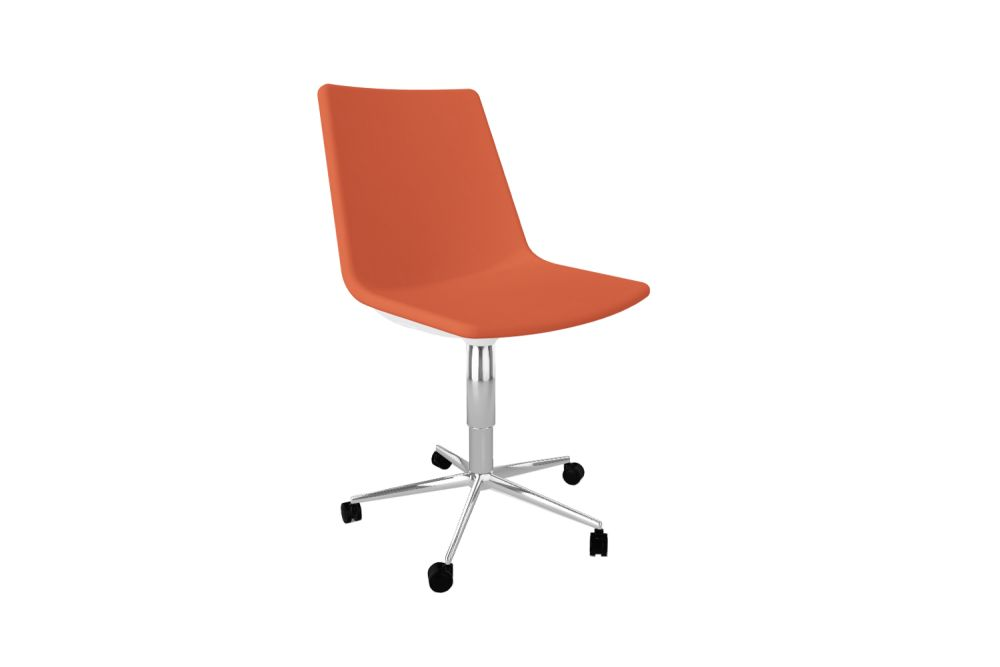 King Fabric 4021,Gaber,Conference Chairs,chair,furniture,line,material property,office chair,orange