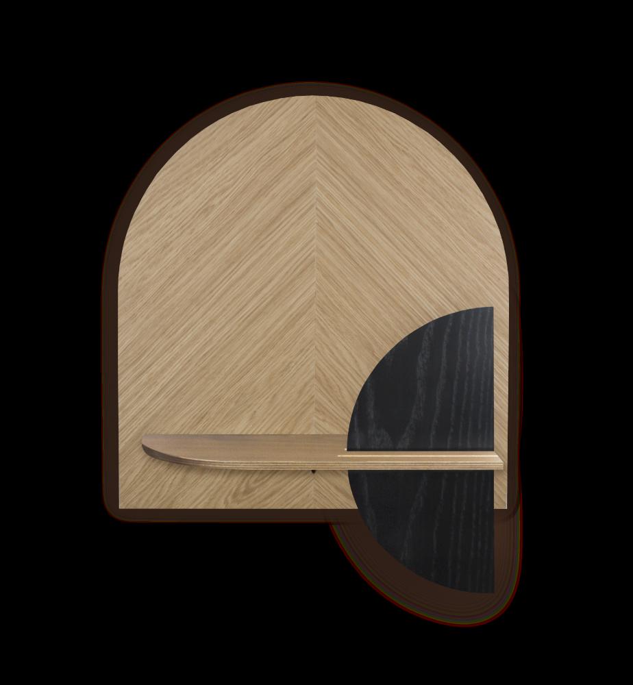 ALBA M - Herringbone. Modular wall shelf. Customizable. by WOODENDOT