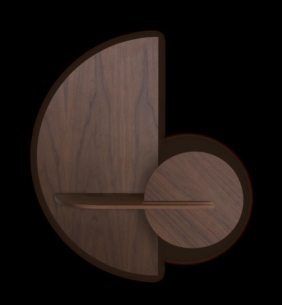 ALBA M - Semi circle. Modular wall shelf. Customizable. by WOODENDOT