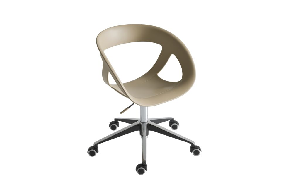 Polished Aluminium, 00 White,Gaber,Conference Chairs,chair,furniture,office chair