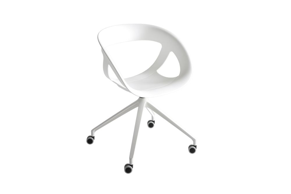 Black Aluminum, 00 White,Gaber,Conference Chairs,chair,furniture,line,product