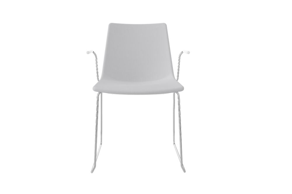 King Fabric 4021, White-Painted metal, Chromed Metal,Gaber,Breakout & Cafe Chairs,chair,furniture