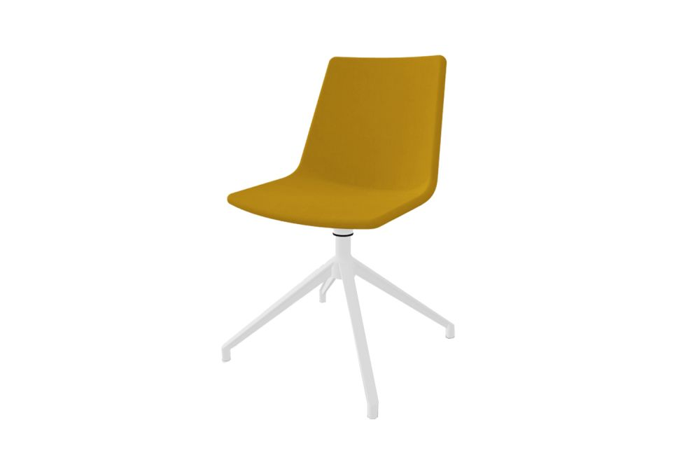 White Aluminium, King Fabric 4021,Gaber,Conference Chairs,chair,furniture,plastic,yellow