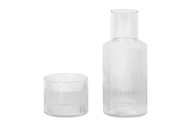 Ripple Carafe Set - Set of 4 by ferm LIVING