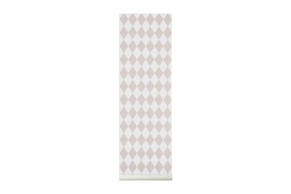 Rose,ferm LIVING,Wallpapers,beige,white