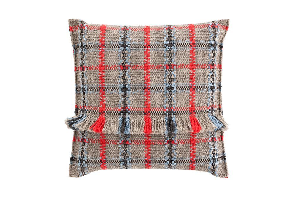 Tartan blue,GAN,Cushions,beige,cushion,design,furniture,pattern,pillow,plaid,red,tartan,textile