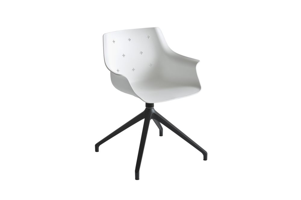 White Aluminium, 00 White,Gaber,Conference Chairs,chair,design,furniture,line