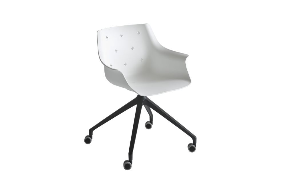 White Aluminium, 00 White,Gaber,Conference Chairs,chair,design,furniture,line,office chair,product,white