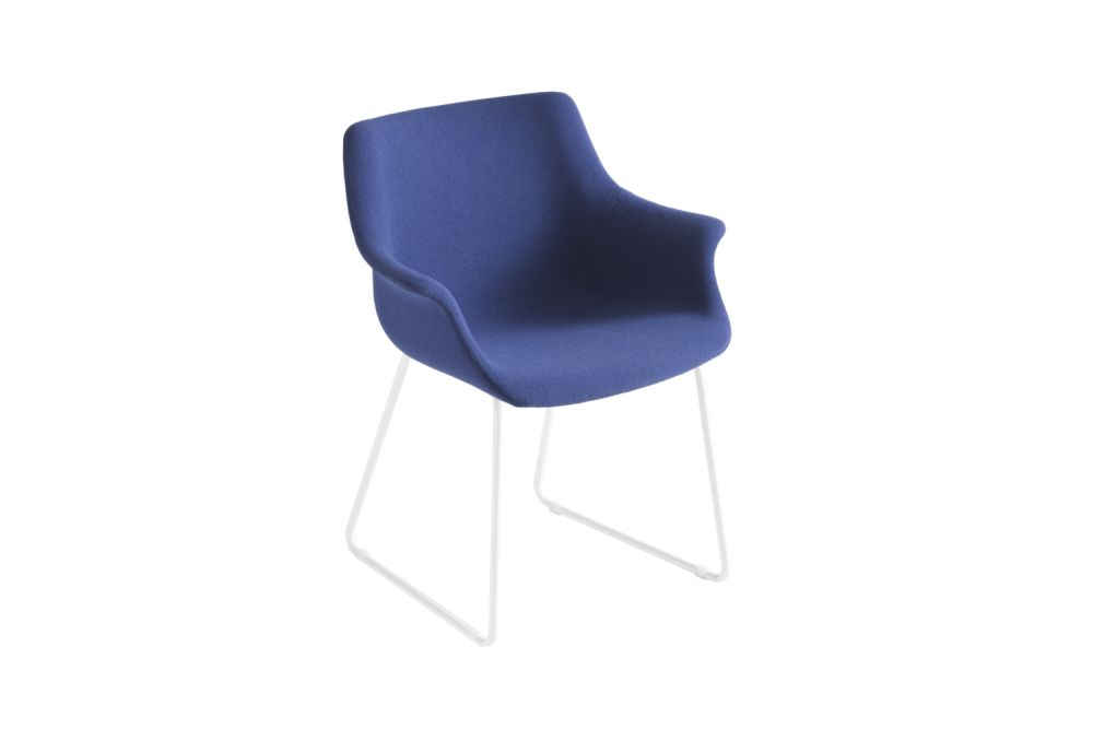 Chromed Metal, King Fabric 4021,Gaber,Breakout Lounge & Armchairs,blue,chair,cobalt blue,electric blue,furniture