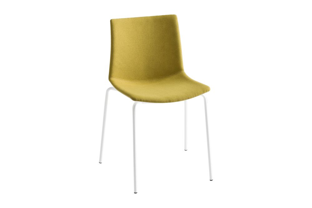 00 White, Simil Leather Aurea 1, Chromed Metal,Gaber,Breakout & Cafe Chairs,beige,chair,furniture,yellow