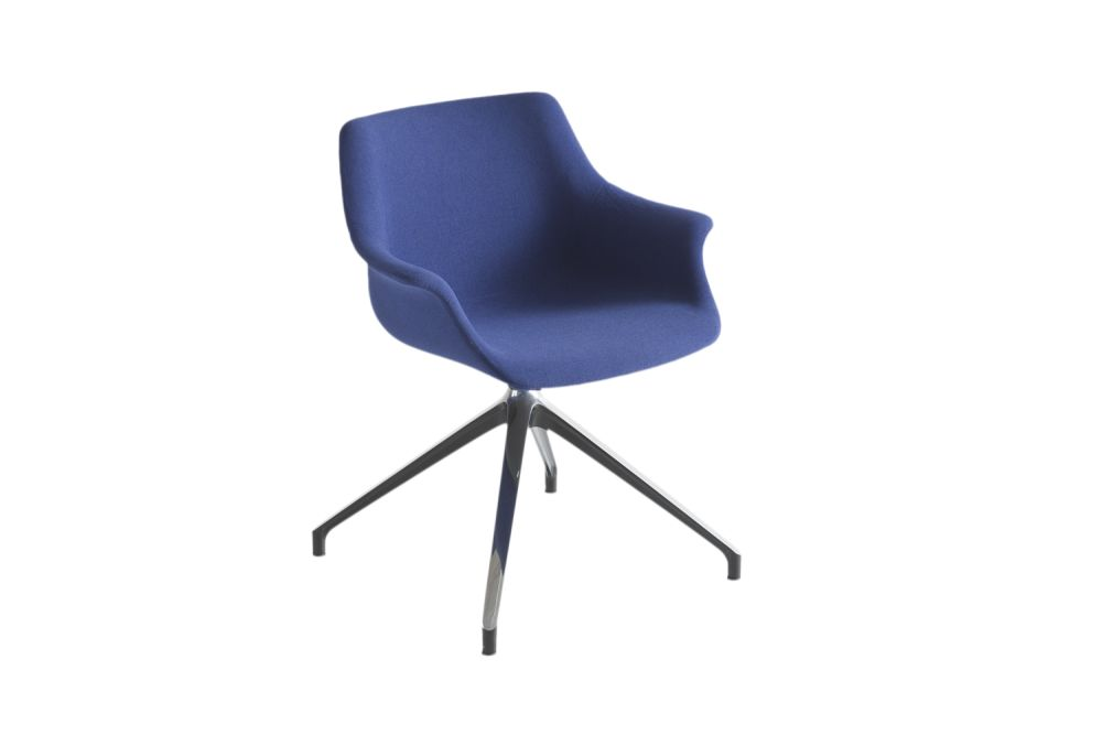 White Aluminium, King Fabric 4021,Gaber,Conference Chairs,chair,cobalt blue,furniture,line