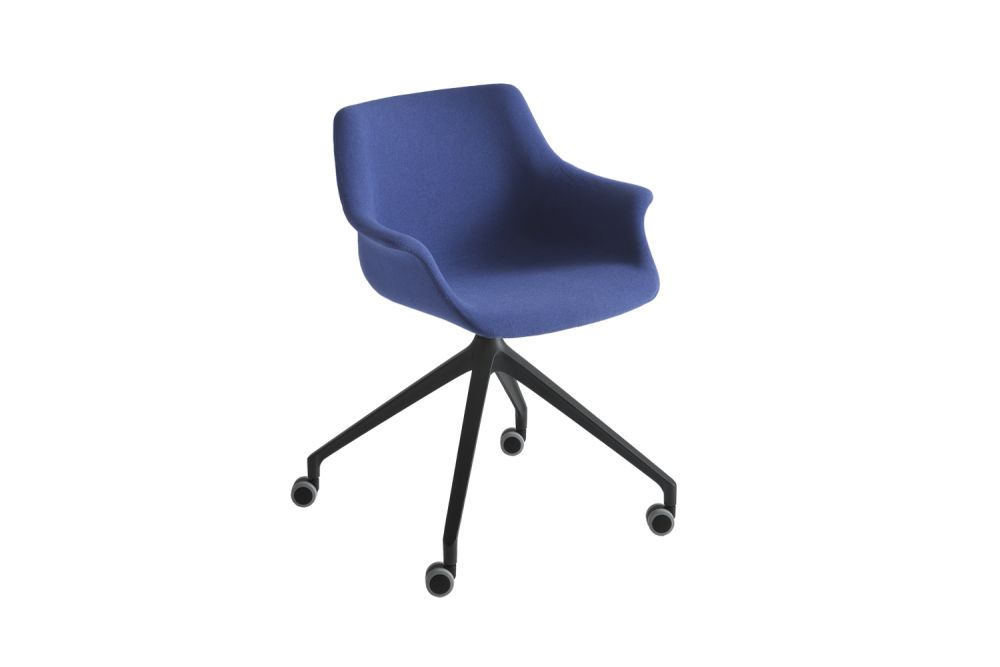 White Aluminium, King Fabric 4021,Gaber,Conference Chairs,chair,cobalt blue,electric blue,furniture,line,material property,office chair