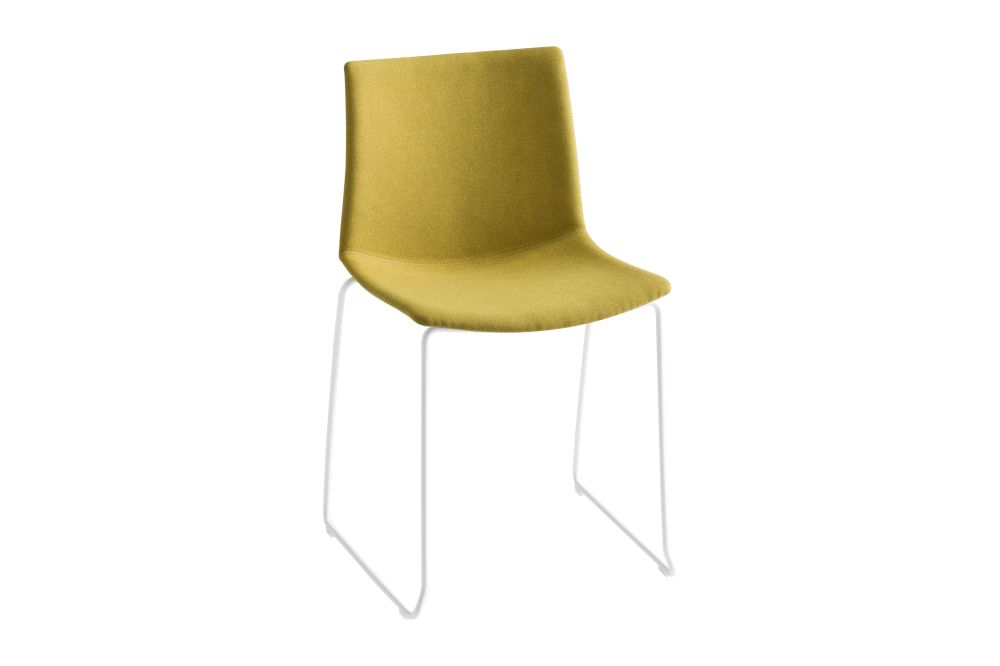 00 White, Simil Leather Aurea 1, Chromed Metal,Gaber,Breakout & Cafe Chairs,chair,furniture,yellow