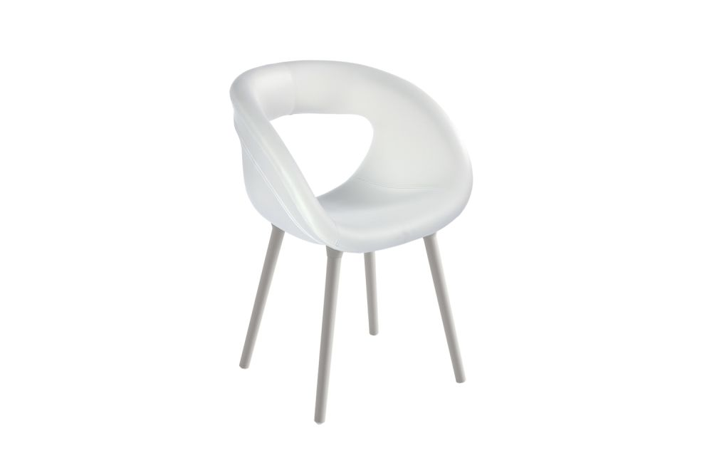 00 White, King Fabric 4021,Gaber,Breakout & Cafe Chairs,chair,furniture,white