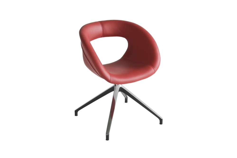 Black Aluminium, King Fabric 4021,Gaber,Breakout & Cafe Chairs,chair,furniture,material property,red