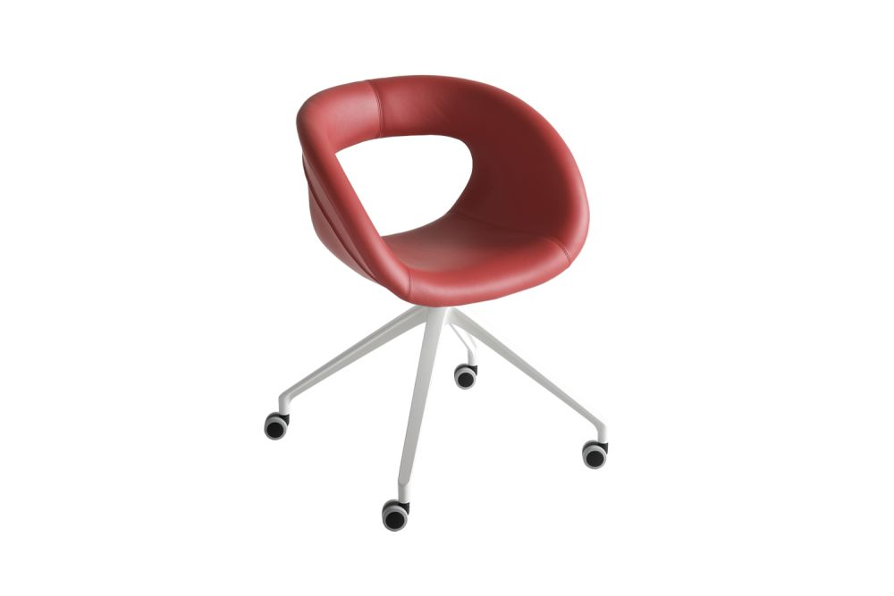 White Aluminium, King Fabric 4021,Gaber,Breakout & Cafe Chairs,chair,furniture,product,red
