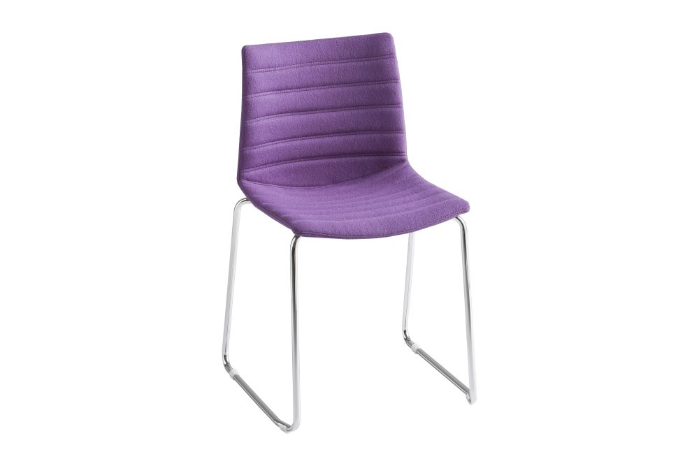 Simil Leather Aurea 1, Chromed Metal,Gaber,Breakout & Cafe Chairs,chair,furniture,purple,violet