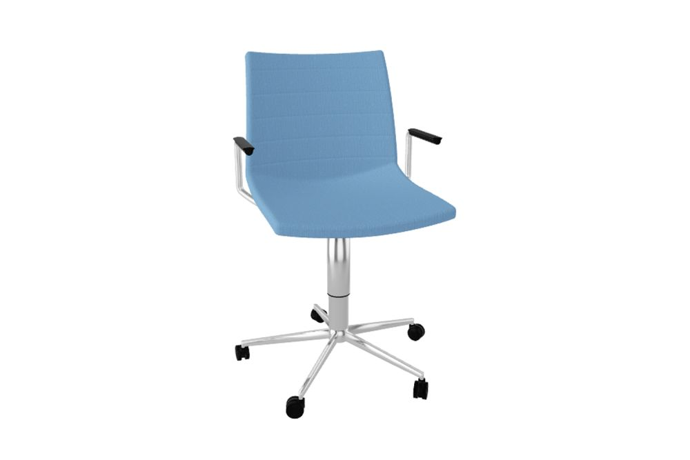 00 White, Simil Leather Aurea 1,Gaber,Conference Chairs,azure,chair,furniture,line,office chair,product,turquoise