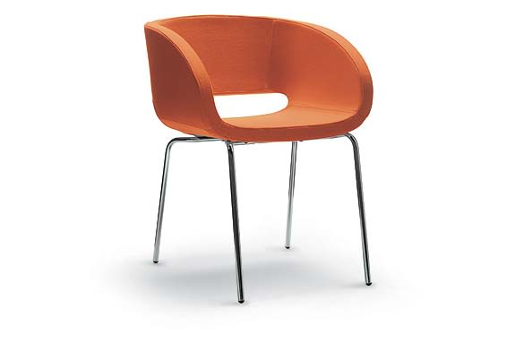 Jet 9110,Diemme,Breakout Lounge & Armchairs,chair,furniture,orange,plywood,product