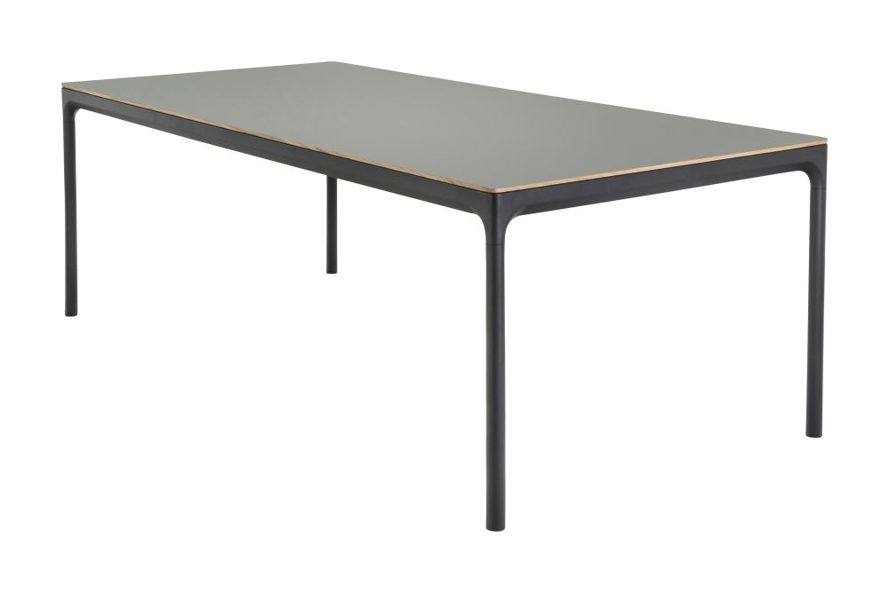 Black, 205x100cm,HOUE,Outdoor Tables,coffee table,end table,furniture,line,outdoor table,rectangle,sofa tables,table