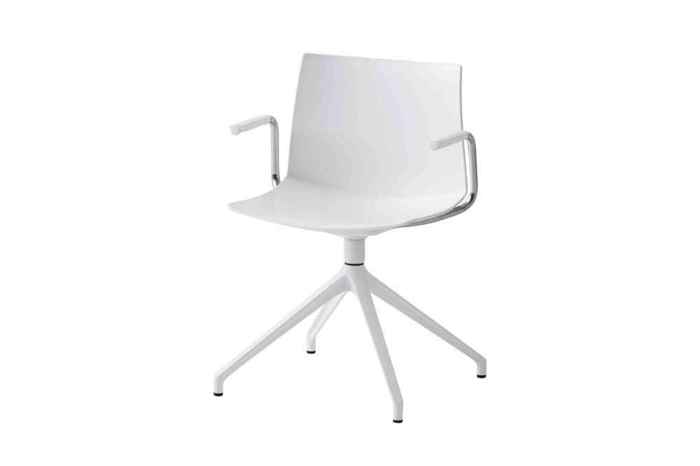 00 White, White Aluminium,Gaber,Conference Chairs,chair,furniture,line,material property,office chair,product,white