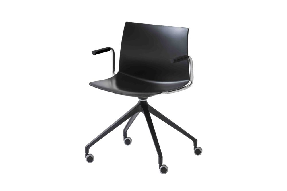 00 White, White Aluminium,Gaber,Conference Chairs,chair,furniture,line,material property,office chair,product