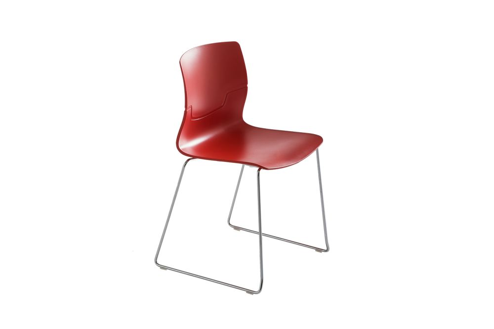 Chromed Metal, 00 White,Gaber,Breakout & Cafe Chairs,chair,furniture,red