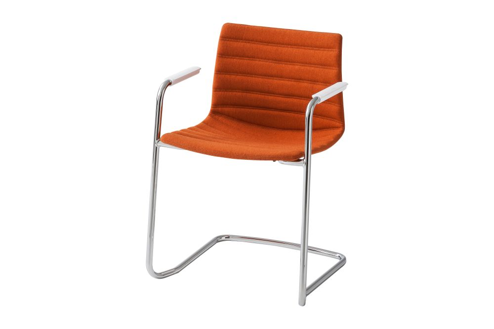 00 White, Simil Leather Aurea 1, Chromed Metal,Gaber,Conference Chairs,armrest,chair,furniture,orange