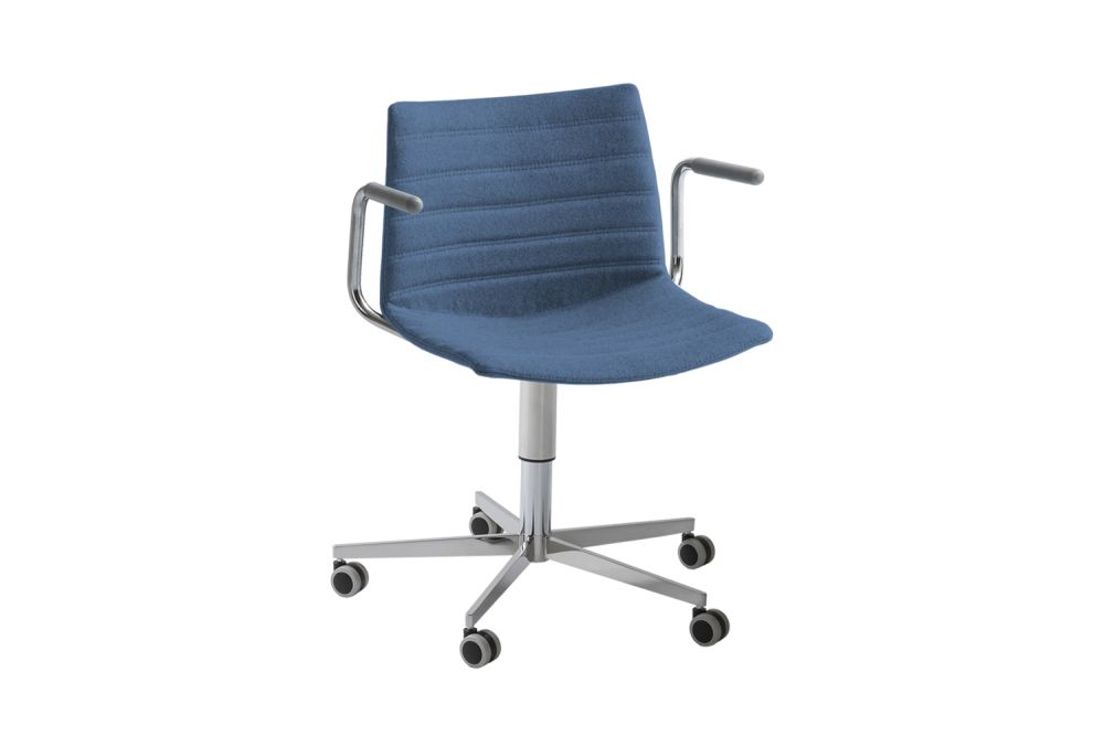00 White, Simil Leather Aurea 1, slIE5RB,Gaber,Task Chairs,chair,furniture,line,office chair,product