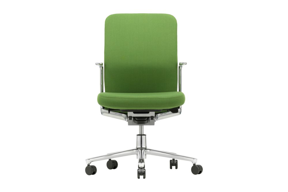Pacific Meeting Chair With Low Backrest and Height-Adjustable Armrests by Vitra