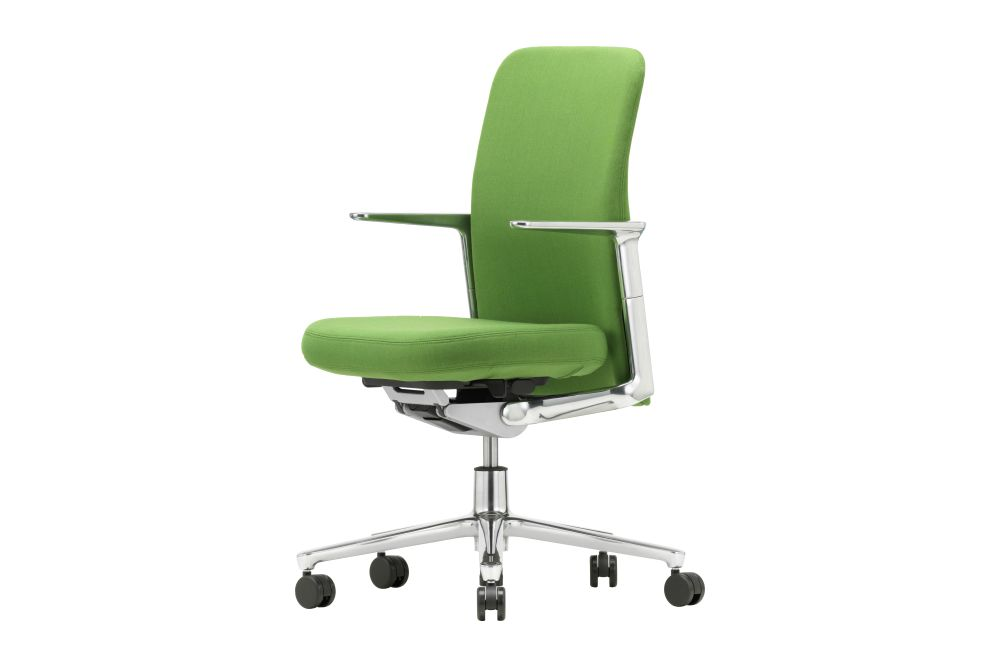 Pacific Chair With Low Backrest and Height-Adjustable Armrests by Vitra