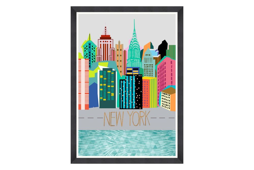 Mind The Gap,Prints & Artwork,city,human settlement,skyline,skyscraper,turquoise