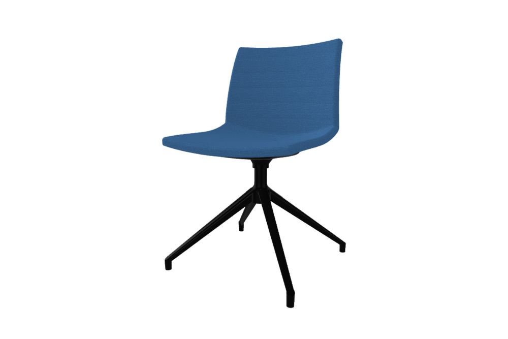 Simil Leather Aurea 1, White Aluminium, IEUB,Gaber,Conference Chairs,chair,cobalt blue,electric blue,furniture,office chair