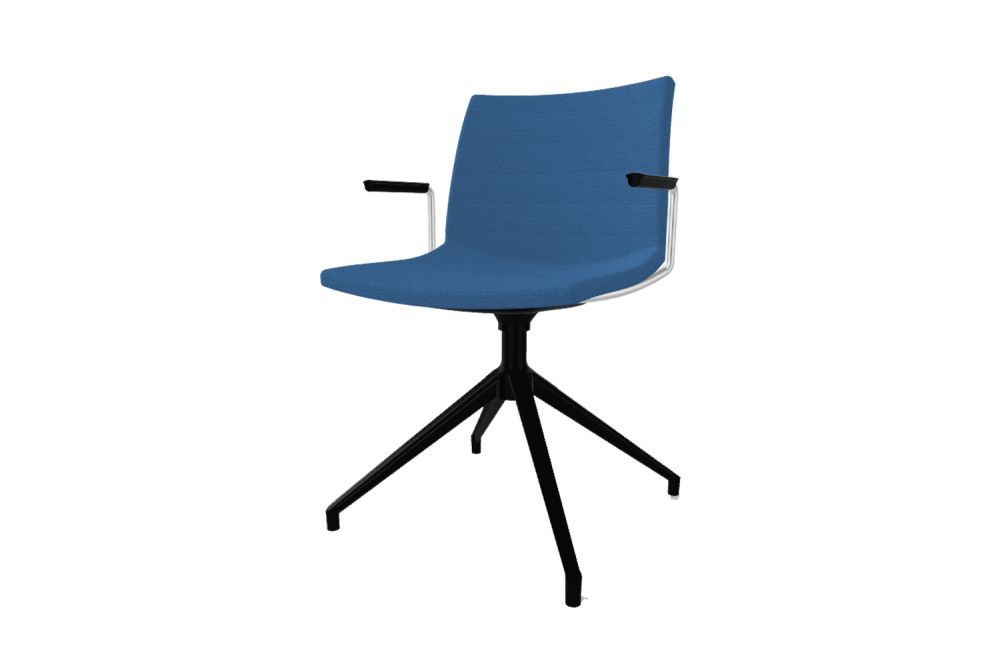 00 White, Simil Leather Aurea 1, White Aluminium,Gaber,Conference Chairs,chair,electric blue,furniture,line,office chair