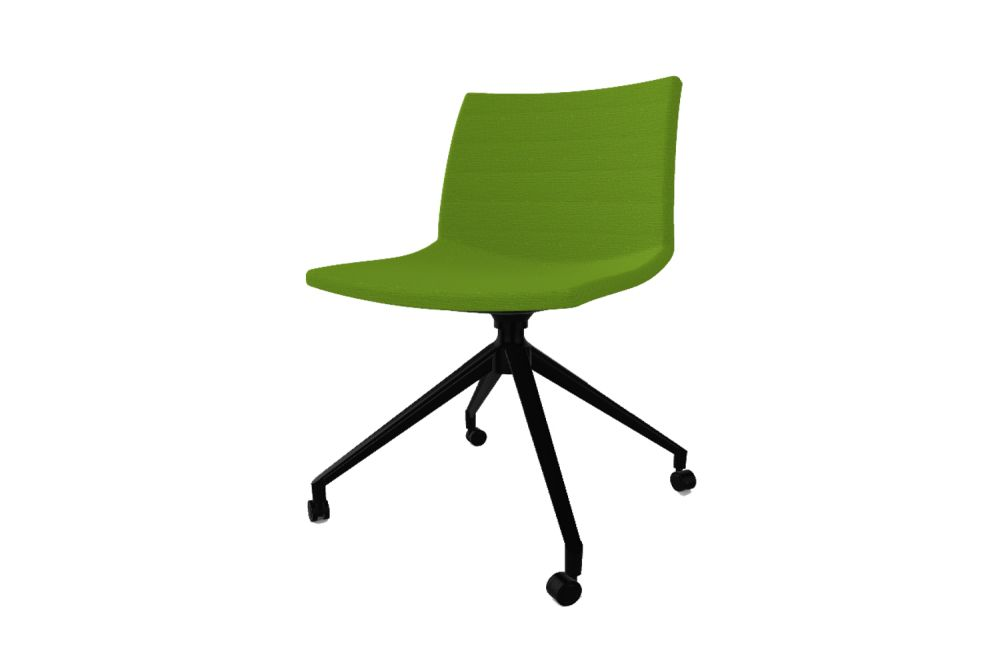 Simil Leather Aurea 1, White Aluminium,Gaber,Conference Chairs,chair,furniture,green,line,office chair