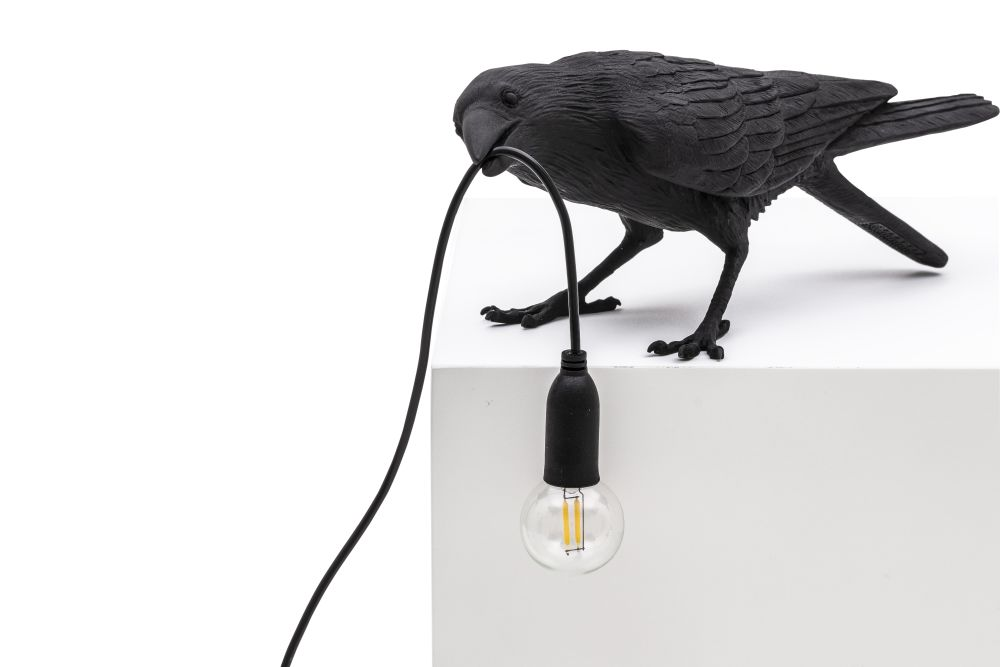 Bird Table Lamp with Outdoor Bulb by Seletti