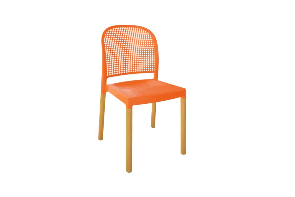 00 White,Gaber,Breakout & Cafe Chairs,chair,furniture,line,orange,outdoor furniture