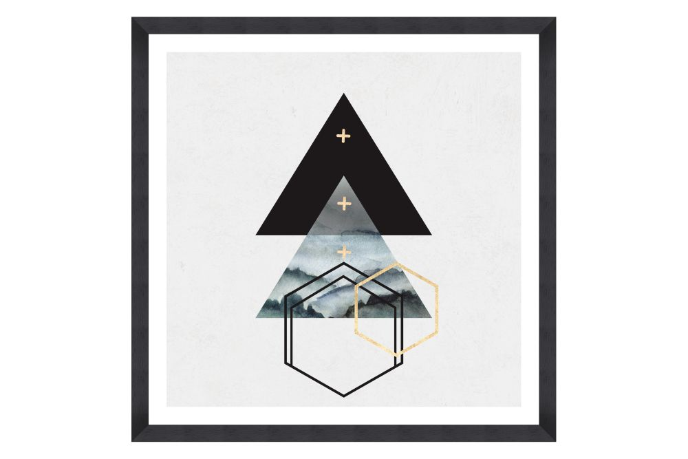 Triangles I Framed Art by Mind The Gap