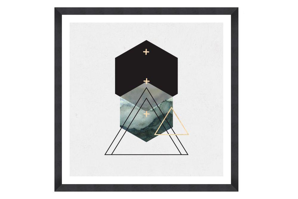 Triangles II Framed Art by Mind The Gap