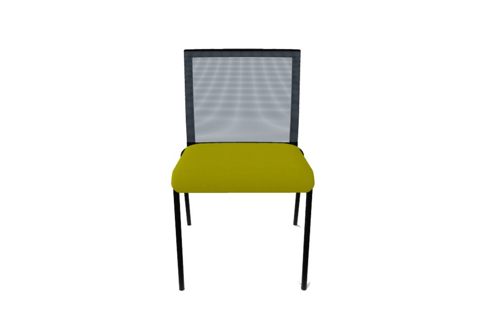 King L Fabric 1010, Mesh R01, Black Painted Metal,Gaber,Breakout & Cafe Chairs,chair,furniture,yellow