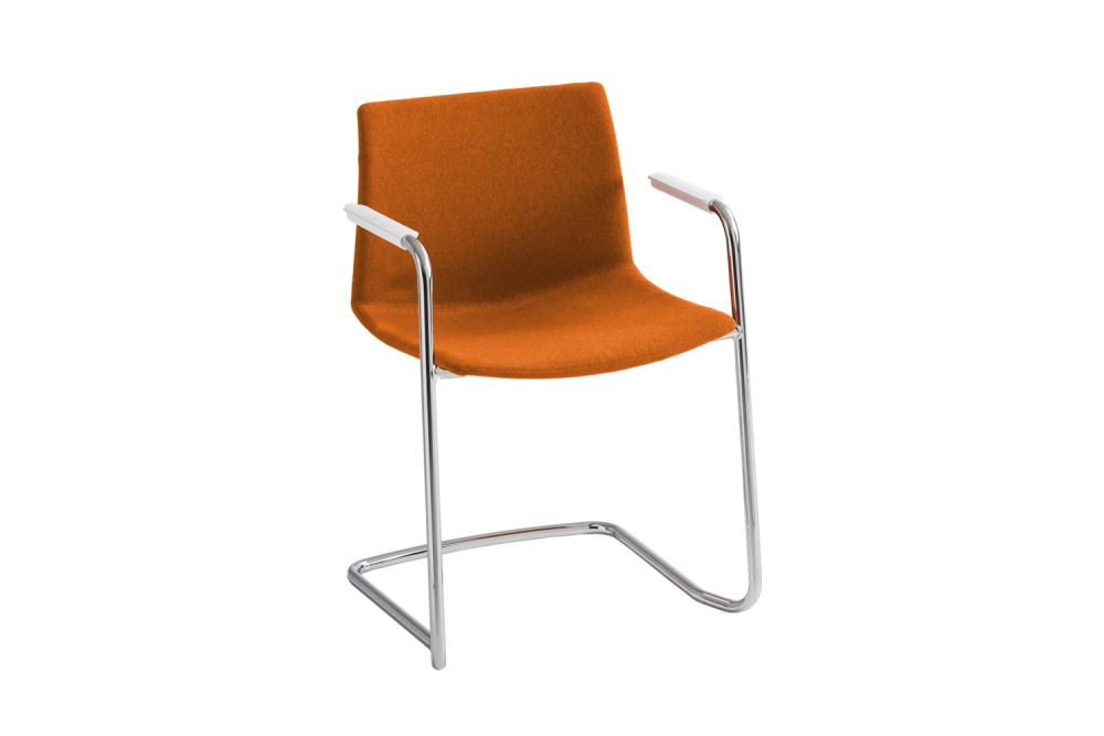 00 White, Simil Leather Aurea 1, Chromed Metal,Gaber,Conference Chairs,chair,furniture,orange