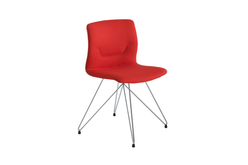 Chromed Metal, Simil Leather Aurea 1,Gaber,Breakout & Cafe Chairs,chair,furniture,line,red
