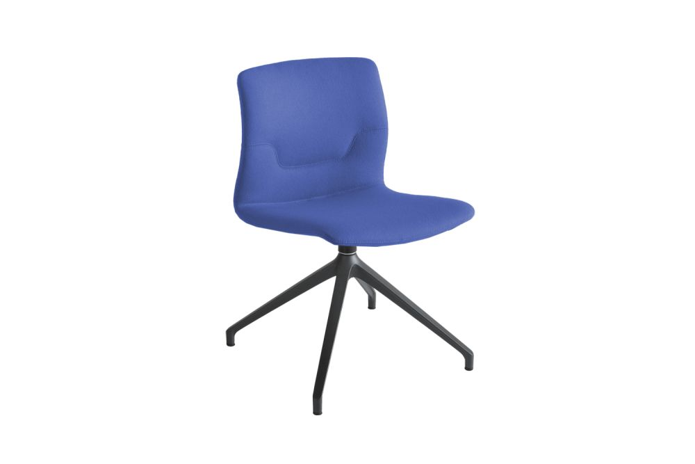 White Aluminium, Simil Leather Aurea 1,Gaber,Conference Chairs,chair,cobalt blue,electric blue,furniture,line,office chair,purple
