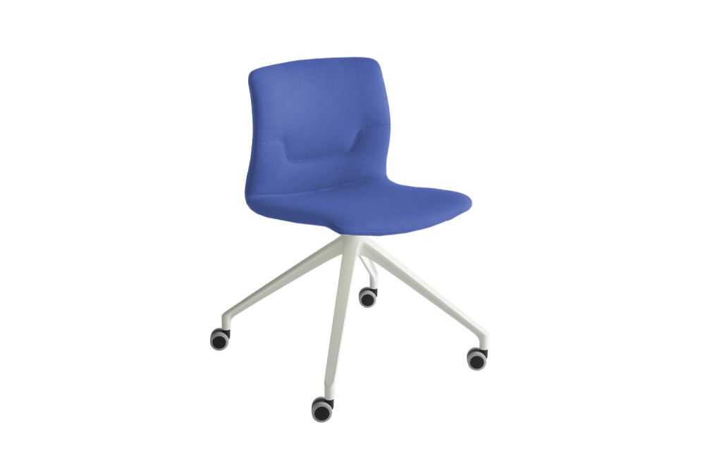 White Aluminium, Simil Leather Aurea 1,Gaber,Conference Chairs,chair,cobalt blue,electric blue,furniture,line,material property,office chair
