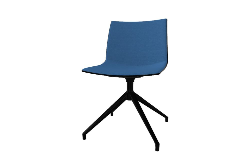 00 White, Simil Leather Aurea 1, White Aluminium,Gaber,Conference Chairs,azure,chair,cobalt blue,electric blue,furniture