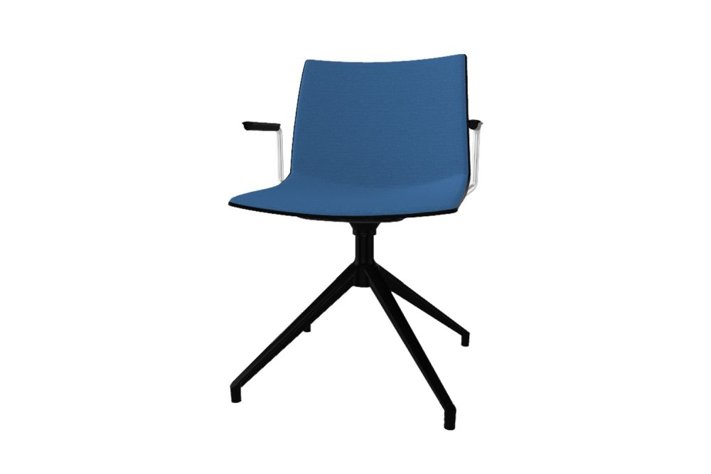00 White, Simil Leather Aurea 1, White Aluminium,Gaber,Conference Chairs,azure,chair,furniture,office chair,turquoise