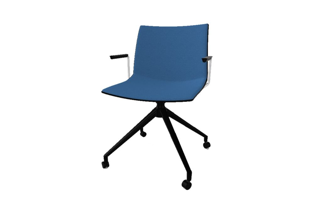 00 White, Simil Leather Aurea 1, White Aluminium,Gaber,Conference Chairs,chair,furniture,line,office chair